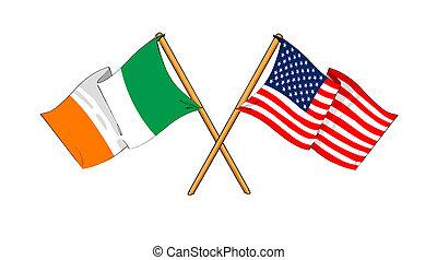 amérique, amitié, alliance, république, irlande