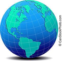 amérique, europe, afrique, sud nord
