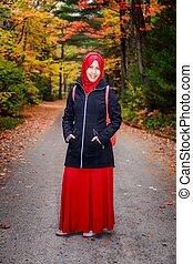 amérique, femme, nord, musulman