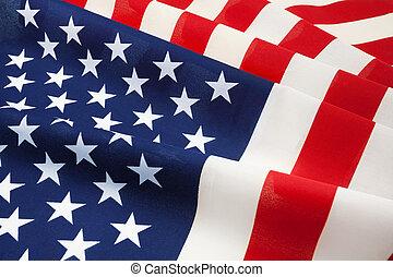 amérique, national, uni, a froissé, etats, drapeau