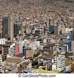 amérique, paz, -, bolivie, sud
