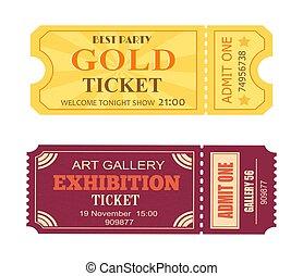 am besten, party, gold, fahrschein, kunstgalerie, ausstellung, ikone