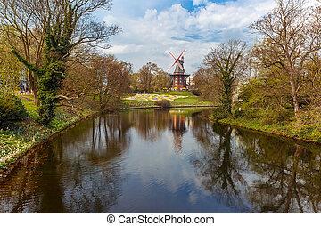 Am Wall Windmill in Bremen, Germany