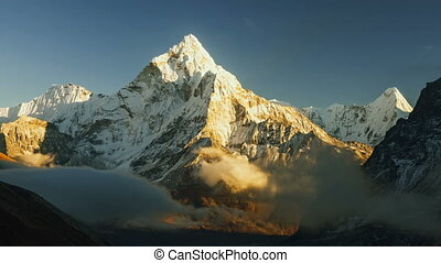 Ama Dablam timelapse, Everest region, Himalaya, Nepal