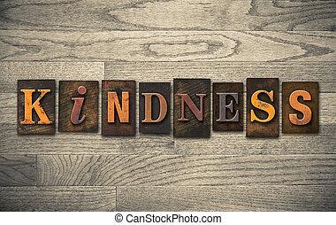 amabilidad, de madera, texto impreso, concepto