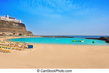 Amadores beach in Gran Canaria - Amadores aqua beach in Gran...