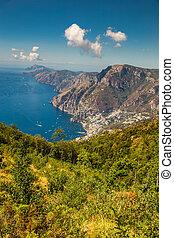 Positano And Amazing Scenery Of Amalfi Coast - Salerno Province, Campania Region, Italy, Europe