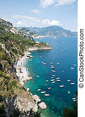 Amalfi Coast, Italy - Panoramic view of the Amalfi Coast,...