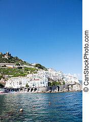 Amalfi, Italy - Panoramic view od Amalfi in the Costiera...