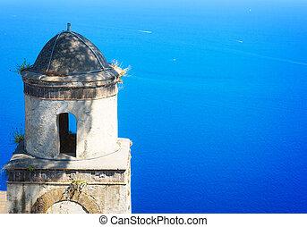 amalfi, ravello, イタリア, 村, 海岸