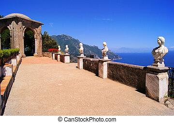 amalfi, terrazzo, costa