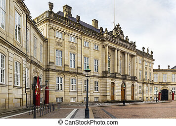 Amalienborg, Copenhagen - Amalienborg is the winter home of ...