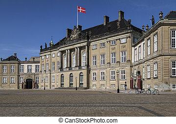 amalienborg, copenhague, -, palais, danemark