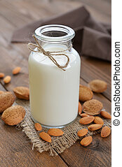 amande, lait