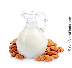 amandel, melk