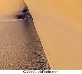 amanhecer, areia, deserto, duna