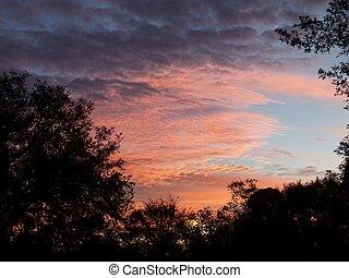 amanhecer colorido