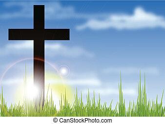 amanhecer, crucifixos