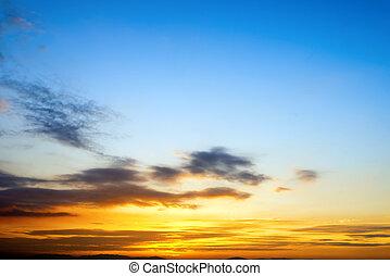 amanhecer, e, pôr do sol
