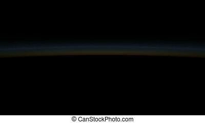 amanhecer, em, espaço