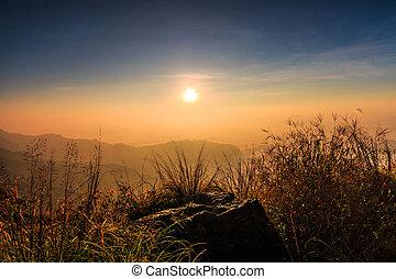 amanhecer, paisagem, natureza