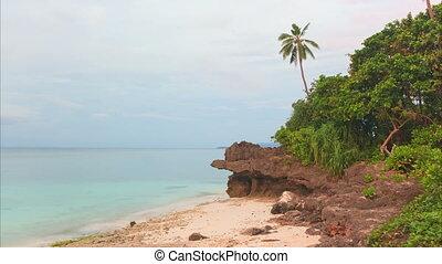amanhecer, sobre, a, sea., timelapse., bohol, filipinas.
