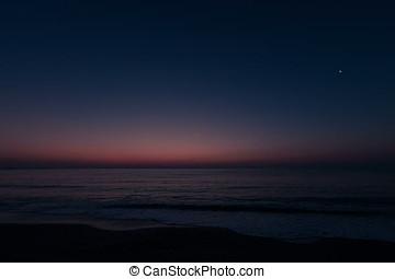 amanhecer, sobre, mar, timelapse