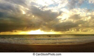 amanhecer, tempo-lapso, brasil, praia