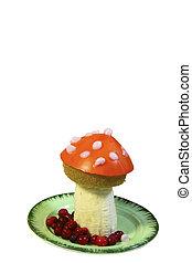 Amanita mushroom is made from fruit