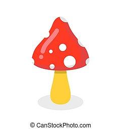 Amanita. Poisonous toxic fungus. Dangerous plant. poison psychedelic mushroom