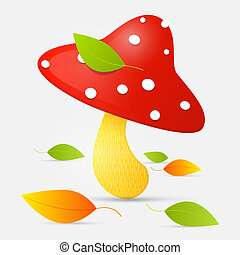 Amanita vector illustration