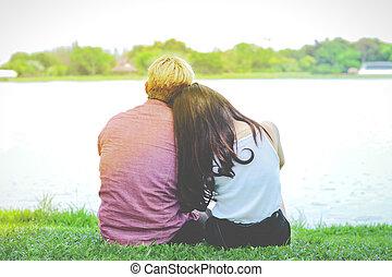 amante, innamorarsi, insieme