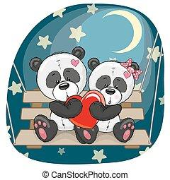 amantes, pandas