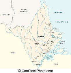 amapa road vector map