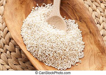 amaranth, el hacer estallar, alto, gluten-libre, grano, cereal, proteína