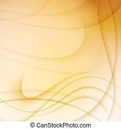 amarela, abstratos, fundo, com, curvas, lines.