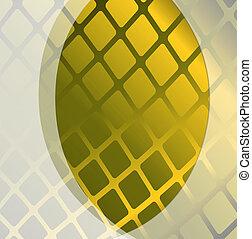amarela, abstratos, fundo, com