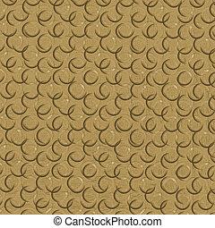 amarela, abstratos, fundo, com, pretas, semicircles