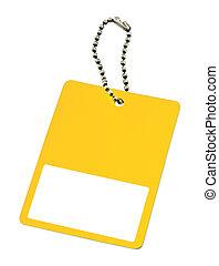 amarela, aprece etiqueta