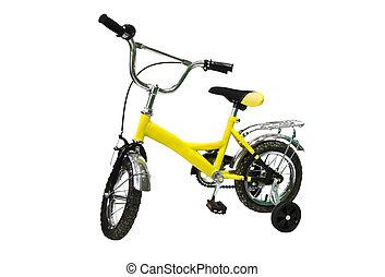 amarela, bicicleta