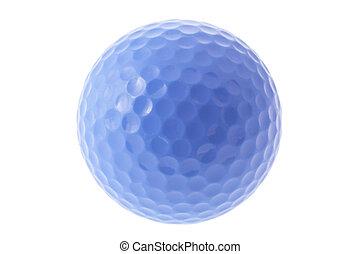 amarela, bola golfe