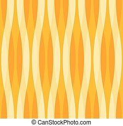 amarela, e, laranja, abstratos, ondulado, fundo
