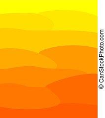 amarela, e, laranja, ensolarado, verão, fundo