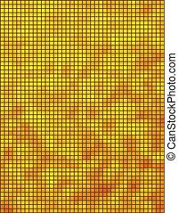 amarela, e, laranja, mosaico