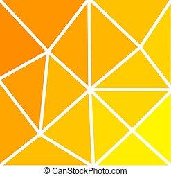 amarela, e, laranja, triângulos, ensolarado, experiência.