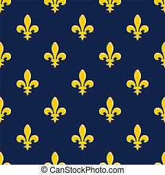 amarela, emblema, padrão