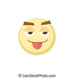 amarela, emoji, ícone, para, app, jogo, ui, ou, projeto teia, template., vetorial, emoção, sinal, eps10