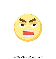 amarela, emoji, ícone, para, app, jogo, ui, ou, projeto teia, template., vetorial, emoção, sinal, rosto