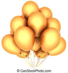 amarela, hélio, balões
