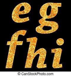 amarela, letras, de, alfabeto